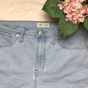 """Madewell Piper Stripe 10"""" High Rise Jeans Size 31"""
